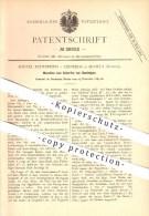 Original Patent - R. Echeverria Y Cisneros , Sevilla , Spanien , 1883 , Schärfen Von Bandsägen , Bandsäge, Säge , Forst - Documentos Antiguos