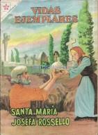 12499 MAGAZINE REVISTA MEXICANAS COMIC VIDAS EJEMPLARES SANTA MARIA JOSEFA ROSSELLO Nº 94 AÑO 1961 ED ER NOVARO - Bücher, Zeitschriften, Comics