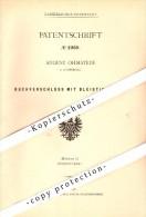Original Patent - Bleistift - Buchverschluß , 1878 , August Ohmstede In Oldenburg , Bleistifte !!! - Pens