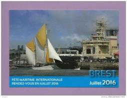 CPM PUBLICITAIRE - 29 - BREST - Fête Maritime Internationale JUILLET 2016 - Bateaux Au Port - Brest