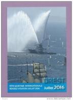 CPM PUBLICITAIRE - 29 - BREST - Fête Maritime Internationale JUILLET 2016 - L´Abeille Bourbon, Jet D´eau - Brest