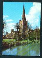 ENGLAND  -  Burford  St John The Baptist's Church  Used Postcard As Scans - England