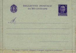 1935 BIGLIETTO POSTALE REGNO IMPERIALE 50 C FORM 10x14 NUOVO - 1900-44 Vittorio Emanuele III