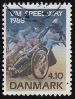 DENMARK - Scott #856 Individual Speedway World Motorcycle (*) / Used Stamp - Motorbikes