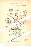 Original Patent - Zerlegbare Metallfiguren , Soldaten , 1879 , Johann Gottlieb In Fürth , Zinnfiguren !!! - Zinnsoldaten