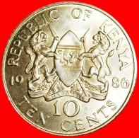 ★LIONS AND COCK: KENYA ★ 10 CENTS 1986! LOW START ★ NO RESERVE! - Kenya