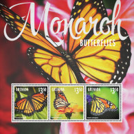 GRENADA 4016  IGPC # 1427 SH ; MINT N H STAMPS OF MONARCH BUTTERFLIES - Grenada (1974-...)