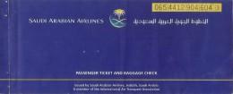 SAUDI ARABIAN AIRLINES PASSENGER TICKET AND BAGGAGE CHECK (KARACHI - JEDDAH - KARACHI)