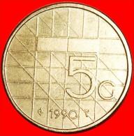 ★LARGE DENOMINATION: NETHERLANDS ★ 5 GULDEN 1990!LOW START ★ NO RESERVE! - [ 3] 1815-… : Kingdom Of The Netherlands