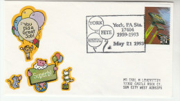 1993  USA York HOSPITAL FETE  EVENT COVER  United States SPACE FANTASY Stamps Medicine Health - Medicine