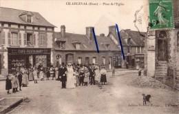 Dpt 27 - CHARLEVAL - (eure) Place De L'église Un Jour De Mariage Animée - France