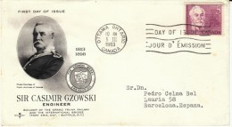 Sir Casimir Gzowski Engineer Builder, 5-cent Canada Commemorative Stamp Issue, 5 March 1963 First Day Cover FDC - 1961-1970