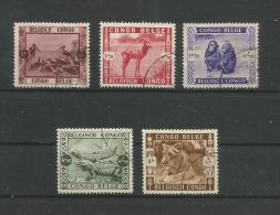 Belgisch-Kongo 1939   Mi.Nr. 185 / 189 , Wild Animals - Gestempelt / Used / (o) - 1923-44: Oblitérés