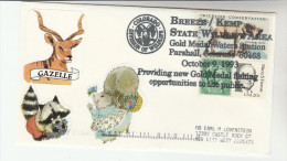 1993 USA BREEZE KEMP Wildlife Area GOLD MEDAL FISHING WATERS Event COVER Stamps BIGHORN SHEEP Pmk Conservation Angling - Fishes