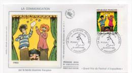 1988-LA COMMUNICATION Par La Bande Dessinée Française--FRED--cachet ANGOULEME-16 - FDC