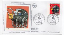 1988-LA COMMUNICATION Par La Bande Dessinée Française--LOB--cachet ANGOULEME-16 - FDC