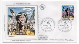 1988-LA COMMUNICATION Par La Bande Dessinée Française--MARIJAC---cachet ANGOULEME-16 - FDC