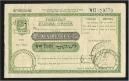 Pakistan 1978 Postal Order Ten Rupees - Pakistan