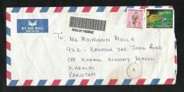 United Arab Emirates Registered Air Mail Postal Used Cover UAE To Pakistan Birds - Abu Dhabi