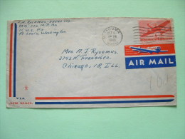 USA 1943 Cover To Chicago - Plane - Air Mail Label - United States
