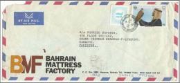 Bahrain 1981 Air Mail Postal Used Cover Arab With Gyr Falcon Stamp Bahrain To Pakistan - Bahrain (1965-...)