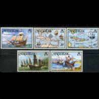 ANGUILLA 1973 - Scott# 174-8 Columbus Set Of 5 MNH - Anguilla (1968-...)