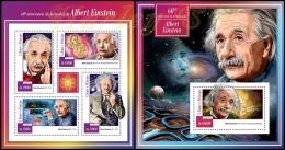 st15112ab S.Tome Principe 2015 60th memorial anniversary of Albert Einstein 2 s/s