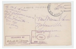 USA -- WW2 -- APO AFRIQUE DU NORD -- 1943 -- CENSURE -- - Poststempel