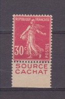 FRANCE / 1924 / Y&T N° 191c ** (PUB CACHAT) : Semeuse Camée 30c Rose - Gomme D´origine Intacte - Nuevos