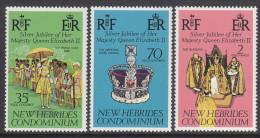 NEW HEBRIDES(ENGLISH) 1977 JUBILEE 3 MNH - English Legend