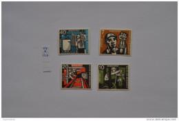 GERMANY, BRD,1957 MINERS, MINEURS, BERG,  Mi 270-73 / YT 142-45 MNH ** - Unused Stamps