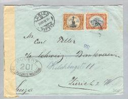 Guatemala 1918-08-29 Zensurbrief Nach Zürich CH - Guatemala