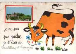 69 CHATILLON D'AZERGUES (vache, Illustrateur) - France