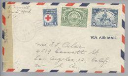 Honduras 1944-11-14 Tegucigalpa Zensurbrief Nach Los Angeles - Honduras