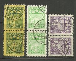 LETTLAND Latvia 1925 -1929 Michel 92 & 118 & 149 In Pair O - Latvia