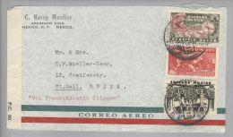 Mexico 1940-12-06 Zensurbrief Airmail Nach St.Gallen CH Via Transatlant.Clipper - Mexique
