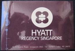 HOTEL MOTEL INN MOTOR HOUSE PENSION HYATT REGENCY SINGAPORE MALAYSIA TAG STICKER LUGGAGE LABEL ETIQUETTE AUFKLEBER - Hotel Labels