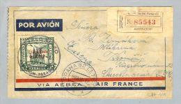 Paraguay Asuncion 1937-08-05 Air France Nach Prag Tschech. - Paraguay