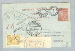 Paraguay 1931-10-28 R-Zeppelinkarte Nach Deutschland - Paraguay