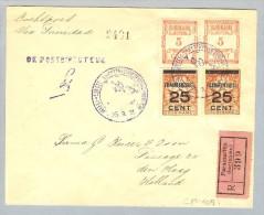 Suriname Paramaribo 1929-09-25 Luftpost Trinidad NL - Surinam