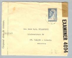 Suriname 1940-10-24 Zensurbrief Nach St.Gallen CH - Surinam