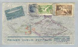 Uruguay Montevideo 1930-05-20 R-Zeppelinbrief Nach Luzern CH - Uruguay