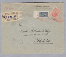 URUGUAY 1925-08-25 Montevideo-Florida R-Flugpostbrief - Uruguay