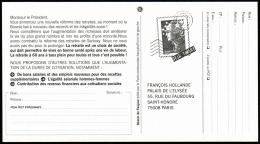 T-0145I- Carte Pétition Avec Pseudo Timbre Marianne De Beaujard. - Pseudo-entiers Privés