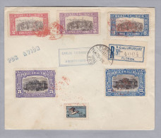 URUGUAY 1925-08-11 Florida-Uruguay R-Flugpost Brief - Uruguay
