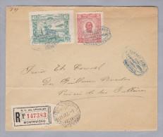 URUGUAY 1925-09-23 Montevideo Luft-Post R-Brief - Uruguay