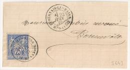 ST GERVAIS LES BAINS Haute Savoie Sur Devant Au Type SAGE. - 1876-1898 Sage (Type II)