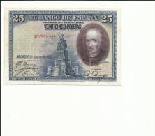 BILLETE 25 PESETAS 1928 - [ 1] …-1931 : Primeros Billetes (Banco De España)