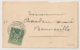31 DEC 1895, Période Jour De L'an, ST JULLIEN GENEVOIS Haute Savoie Sur Enveloppe Au Type  SAGE. - 1876-1898 Sage (Tipo II)