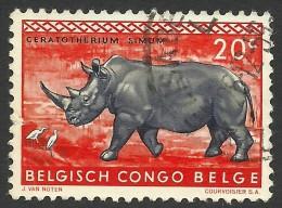 Belgian Congo, 20 C. 1959, Sc # 307, Used - 1947-60: Gebraucht